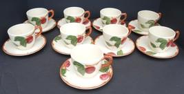 Nine Vintage Franciscan Cups and Saucers - Apple Pattern - $47.50
