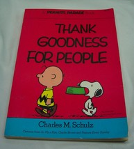Vintage Peanuts Parade Thank Goodness For People Paperback Book Snoopy Comic - $16.34