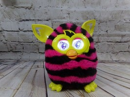FURBY BOOM Yellow w/ Pink and Black Stripes 2012 Tested & Works! #A4337/A4342 - $19.95
