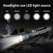 USB Rechargeable Waterproof Zoomable LED Headlamp Headlight Light Powerf... - £11.40 GBP