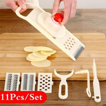 11Pcs/Set Kitchen Tools Fruit Vegetables Slicer Mandoline Julienne Cutte... - $18.22