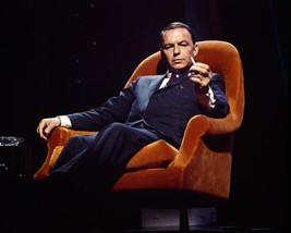 Frank Sinatra in chair holding cigarette 16x20 Canvas Giclee - $69.99