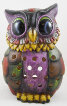 TII Collections Ceramic Owl Luminary Lantern Candle Holder Tea Light Col... - $29.69