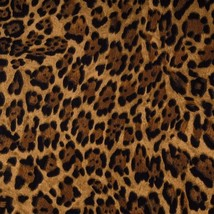 "Wild Animal Print Leopard Spots 42""W 15""L Curtain Valance Cotton fabric - $10.88"