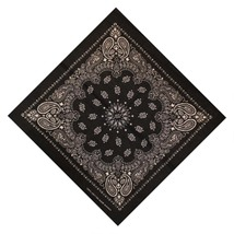 55*55cm Hip Hop Cotton Paisley Bandanas Head Wrap Black Red White etc 10 colors  image 4
