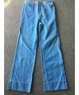 Vintage ~ Bay Britches ~15/16 High-Waisted Straight WIDE LEG Light Wash ... - $69.29