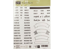 Stampin' Up! Thoughtful Banners Photopolymer Cling Stamp Set #141614