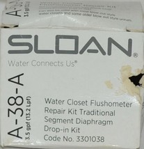 Sloan A38A Water Closet Flushometer Repair Kit Traditional Segment Diaphragm image 1