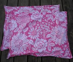 Pottery Barn Kids Bright Pink Floral PILLOWCASE PAIR TROPICAL Aloha Surf... - $21.85
