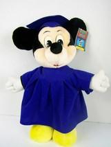 Vintage Walt Disney World Disneyland Graduation Mickey Mouse Plush 15 In... - $34.64