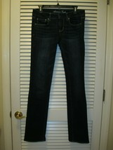 """American Eagle Straight Jeans Stretch Size 6 XLong (Inseam 33.5"""") AE Den... - $25.95"""