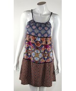 Xhilaration Womens Juniors XS Multi-Color Floral Tunic Dress Rope Straps... - $10.39