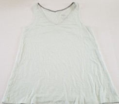Women's Gilligan & O'Malley Pajama Sleep Tank V-Neck Mint & White Stripe... - $5.93
