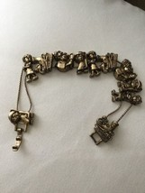 "Vintage Multiple Charm Hair Dresser Charm Bracelet 7.5"" - £3.93 GBP"