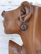 "Liz Claiborne Gun Metal Into The Night Pierced Earrings 1"" New  - $9.99"