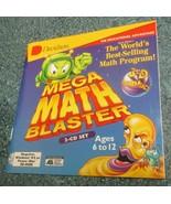 Mega Math Blaster Windows/Mac 1996 2 CDs learn numbers mathematics skill... - $9.99