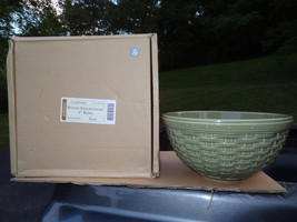 """LONGABERGER  WOVEN REFLECTIONS  9"""" BOWL  SAGE  GREEN  NEW IN THE BOX POT... - $28.99"""