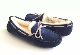 UGG DAKOTA PEACOAT SHEARLING LINED SLIPPERS MOCCASIN US 9 / EU 40 / UK 7.5 - $88.83