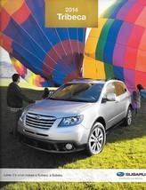 2014 Subaru TRIBECA sales brochure sheet 14 US 3.6R - $8.00