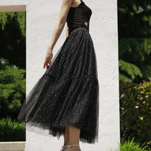 Black Tulle Party Skirt Women Tiered Layered Tulle Skirt Tulle Party Skirt Plus image 8