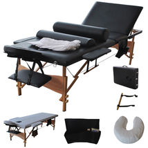 """3 Fold 84""""L Portable Massage Table Facial Bed W/2 Bolster+Sheet+Cradle C... - $159.99"""