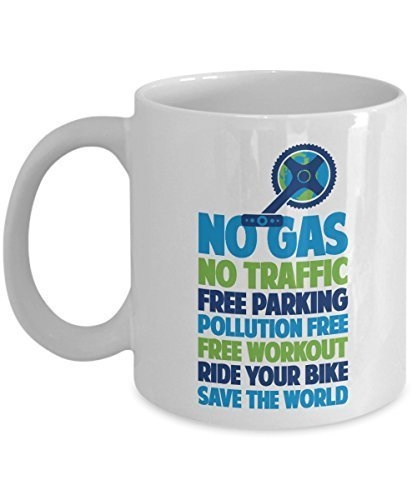Primary image for Ride Your Bike Save The World Earth Friendly Coffee & Tea Gift Mug for a Biker a