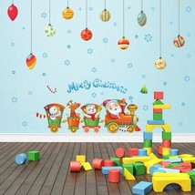 Train Christmas ball Removable Wall Stickers 2017 - $18.76