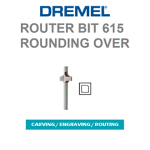"""New Dremel 615 Piloted Rounding, Round Over Router Bit 1/8"""" Shank - $9.85"""