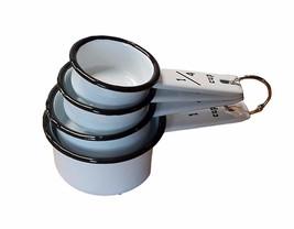 Vintage White Enamel Measuring Cup Set - $30.94