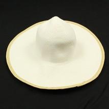 Sun Hat Wide Brim Summer Ribbed Leisure Wear 100% Paper Women's Prairie Cap - $7.51