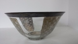 """MCM GEORGES BRIARD LARGE 10 1/4"""" BOWL SILVER OVERLAY TRIMMED FLORAL RARE... - $18.37"""