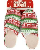 Men's Slippers Size LARGE 11-12 Soft & Cozy Christmas Themed Slip On Sli... - $18.80