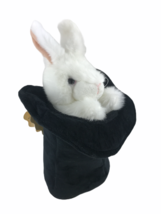 Folkmanis Rabbit in Top Hat Plush Hand Puppet Bunny Magic Trick Pretend Play Toy - $13.96