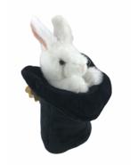 Folkmanis Rabbit in Top Hat Plush Hand Puppet Bunny Magic Trick Pretend ... - $13.96