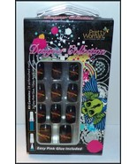 "NEW Pretty Woman Designer Collection 24 Airbrushed Nails Black Red ""Love... - $0.99"
