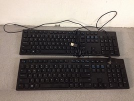 Lot of 2 Dell KB216t Black USB Wired Keyboards - $25.00