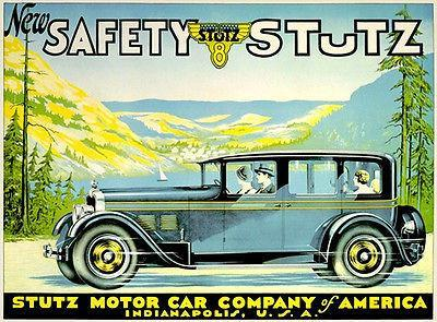 Primary image for 1926 Stutz 8 Limousine - Promotional Advertising Poster