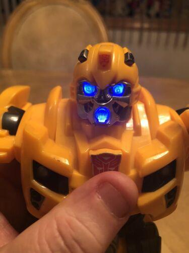 "Bumblebee Transformer 2009 Hasbro 10"" Talks and Lights Up EUC image 4"