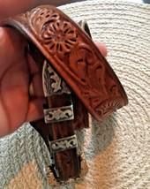 BOHLIN MADE BELT RANGER PLATA DE JALISCO STERLING SILVER BUCKLE Leather Western image 2