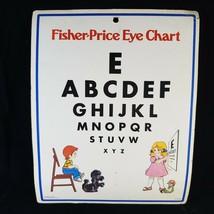 Vintage Fisher Price Eye Chart 1977 Printed in USA Optometry Optometrist - $9.70