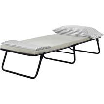 Guest Bed Cot Single Dorm Camp Folding Foldaway Portable Includes Foam M... - $80.71