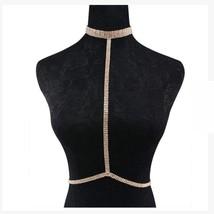 Brand 2018 Statement Jewelry Crystal Sexy Body Necklace Chain Bra Neckla... - $14.28