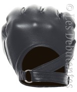MEN'S BLACK LEATHER STRAP DRIVING GLOVES - $27.99