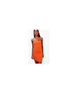 Boohoo India Bandeau Jersey Bodycon Mini Dress Tangerine Size US 12 NWT - $11.88