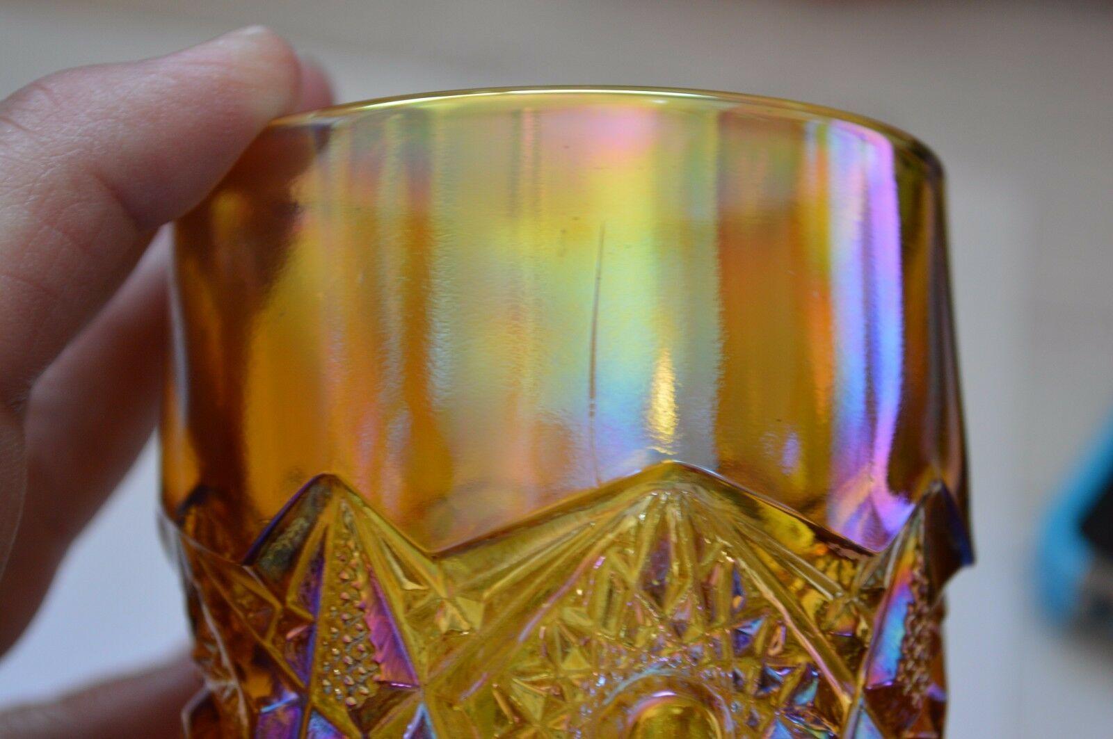 2 L E Smith Carnival Glass Valtec Tumblers image 10