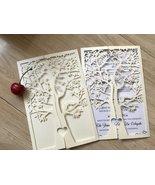 50pcs cream Laser Cut Invitations Cards,laser cut wedding invitations cards - $53.80
