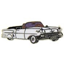 Chevy 1958 White Convertable Car Emblem Pin Pinback - $7.91