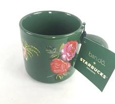 NEW Starbucks Holiday 2018 Ban.do Bando Ceramic Coffee Mug Green Floral ... - $23.75