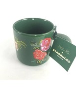 NEW Starbucks Holiday 2018 Ban.do Bando Ceramic Coffee Mug Green Floral ... - $23.75