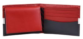 Tommy Hilfiger Men's Leather Wallet Passcase Billfold Rfid Red Navy 31TL220053 image 6